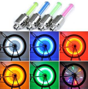 Светящиеся колпачки на ниппель колес